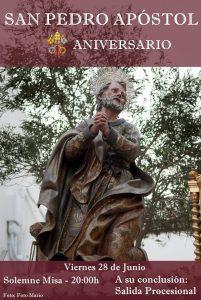 Cartel Anunciador Cultos en honor de San Pedro Apóstol
