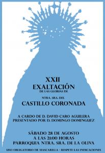 XXII EXALTACIÓN A NTRA. SRA. DEL CASTILLO CORONADA